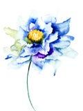 Декоративный голубой цветок Стоковое Изображение RF