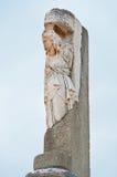 Декоративный столбец в Ephesus, Турции Стоковые Фотографии RF