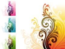 декоративный флористический орнамент Стоковые Изображения RF
