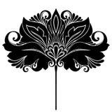 Декоративный цветок с листьями Стоковое фото RF