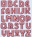 Декоративный шрифт вектора Стоковые Фотографии RF