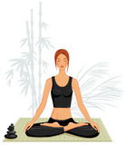 делать детенышей йоги женщины Стоковые Изображения RF