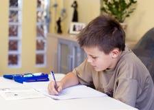 делать домашнюю работу Стоковое Изображение