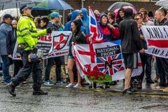 Демонстрация национального фронта в olton Стоковые Фотографии RF