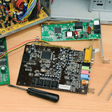Демонтированный компьютер Стоковое Фото