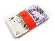 деньги Великобритания Стоковое Изображение