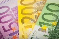 Деньги евро Стоковые Изображения