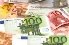 деньги евро backround Стоковые Фотографии RF