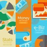 Деньги, дело, концепции электронной коммерции Стоковое Изображение RF