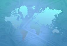 деньги земли Стоковые Фотографии RF