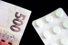 Деньги и лекарства Стоковое Изображение RF