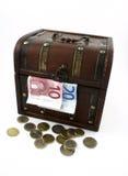 деньги коробки Стоковая Фотография