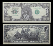 деньги одно доллара миллиона счета Стоковое Фото