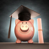 Деньги сбережений к выпускному дню Стоковое Изображение