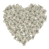 деньги сердца Стоковое Изображение RF