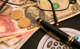 деньги управления Стоковая Фотография
