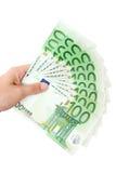 деньги удерживания вентилятора Стоковое Фото