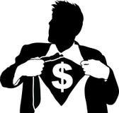 деньги человека супер Стоковое фото RF