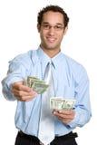 деньги человека Стоковая Фотография RF