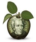 Деньги Яблоко Стоковая Фотография