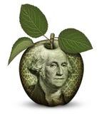 Деньги Яблоко Стоковые Фото