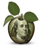 Деньги Яблоко Стоковые Изображения RF