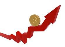 деньги диаграммы принципиальной схемы дела Стоковое Изображение