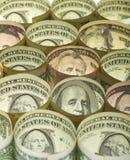 деньги доллара кредиток предпосылки Стоковое Изображение
