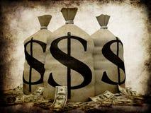 деньги grunge Стоковое Изображение