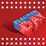 день выборов 3d Стоковое Изображение
