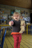 День малыша s первый в детском саде Стоковые Изображения RF