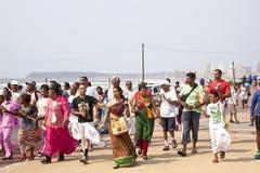 День наследия Celibrating прогулки в Дурбане Южной Африке Стоковые Фото