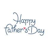 День отцов вектора счастливый Стоковые Фотографии RF