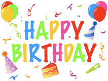 день рождения знамени счастливый Стоковые Изображения RF