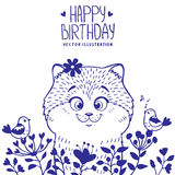 День рождения котенка Стоковое фото RF