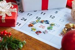 День рождественских подарков Стоковое Изображение