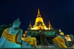 День Visakha Bucha в вероисповедании буддизма на виске Стоковое фото RF