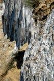 Депозит соли, осадочноэффузивные геологохимические слои Стоковые Фотографии RF