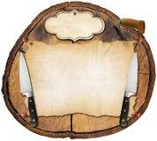 Деревенская предпосылка меню Стоковые Изображения RF