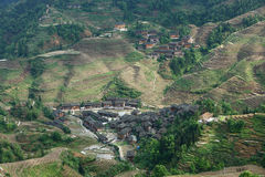 Деревня в террасе Longji, Guilin Стоковое фото RF