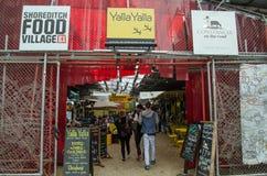 Деревня еды Shoreditch, Лондон Стоковые Изображения RF