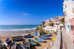 Деревня прибоя Taghazout, Агадир, Марокко 5 Стоковое Изображение