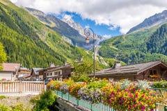 Деревня Argentiere Стоковое Изображение