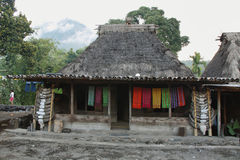 Деревня Bena, остров Flores Стоковые Изображения
