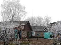 Деревня Elsanta, Россия Село осени Стоковое Фото