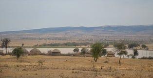 Деревня 3 Masai Стоковое Фото