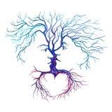 Дерево в форме вектора людей и женщин Стоковые Изображения RF
