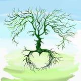 Дерево в форме вектора людей и женщин Стоковое Изображение RF