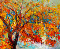 Дерево осени Стоковое Изображение