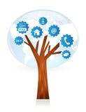 Дерево работы с клиентом Стоковые Изображения RF
